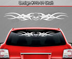 Design #110-01 SKULL Tribal Windshield Decal Rear Window Sticker Vinyl Graphic