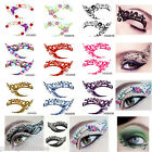 2x Pairs of Temporary Eye Rock Tattoo Eyeliner Sticker&Eye shadow Sticker Makeup