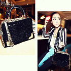 New Leopard Print Sequin Paillette Women Lady Tassels Handbag Shoulder Bag