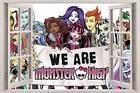 WE ARE MONSTER HIGH Group 3D Window View Decal WALL STICKER Decor Art Mural