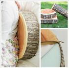 Fashion Cute Round Woods Grain Soft Seat Cushion Pillow Home Car Chair Decor Z