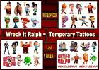 WRECK IT RALPH TEMPORARY TATTOOS X8  last 1week+ waterproof  4 set CHOICE tattoo