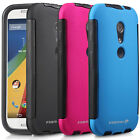 New For Motorola Moto G 2nd Gen Hybrid TPU Case Cover Built-In Screen Protector