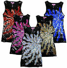 Girls Hoogy Googy All Over Sequin Front Panel Starburst Party Dress 3-12 Yrs NEW