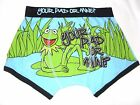 bnwt Disney The Muppets Mens Cartoon Character Kermit Boxers Size XS
