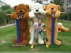 HOT GIFT COTTON GIANT CUTE PLUSH TEDDY BEAR HUGE SOFT TOY SIZE 200CM