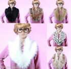 Ladies Fashion Fluffy Winter Faux Fur Collar Scarf Shawl Wrap Stole For Women