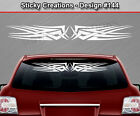 Design #144 Tribal Scallop Windshield Decal Rear Window Sticker Vinyl Graphic