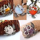 1PC Gemstone Healing Skull Head Angel Wings Bead Charms Pendant Fit Necklace