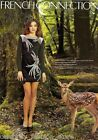 French Connection Black Pearl Bird Embellished Mini Evening Sequin Dress 12 40