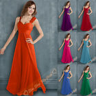 Long Bridesmaid Dresses Formal Evening Wedding Gown Prom Party Ball Size 6-26