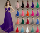 Gorgeous Color Beading Bridesmaid Gown Prom Party Ball Evening Dresses Formal