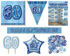 60th Birthday/Age 60 - BLUE PARTY ITEMS Decorations Tableware - Large Range