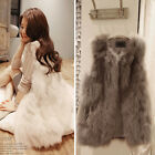 Appealing Ladies Faux Fur Well Vest Gilet Sleeveless Coat Outerwear Korean Pop