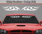 Design #162 Tribal Curls Windshield Decal Rear Window Sticker Vinyl Graphic Car