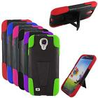 For Straight Talk Samsung Galaxy S4 S975G Phone Case Hybrid Rugged Cover Stand