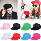 Unisex Plain Fitted Baseball Cap Curved Visor Solid Blank Color Caps Hat Hats