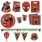 ULTIMATE SPIDER-MAN Birthday PARTY RANGE (Partyware/Invites/Toys/Gifts)