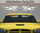 Design #168 Tribal Curl Windshield Decal Window Sticker Vinyl Graphic Car Banner