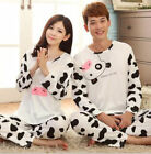 Women/Men Long Sleeves Cartoon Couple Pajamas Nightwear Underwear Tracksuit Suit