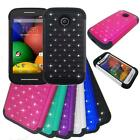 For Straight Talk Moto E XT830c Phone Case Dual-Layered with Crystal Cover