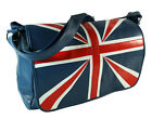Faux Leather GB Union Jack Messenger Cross Body Shoulder Flap Satchel Bag  38x29