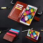Genuine Real Leather Flip Wallet Case Stand Cover For Samsung Galaxy Note 4 N910