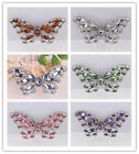 Chic Rhinestone Crystal Butterfly Hollow & Alloy Pin & Brooch Gift For Women