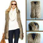 Women Sleeveless Vest Warm Faux Fox Fur Jacket Waistcoat Coat Outwear Unique Hot