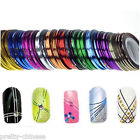 6 Rolls Pro Nail Art Tips Striping Tape Line Metallic Decor Adhesiver Sticker