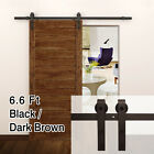 Black Dark Brown Modern European Steel Wood Sliding Barn Door Track Hardware Set