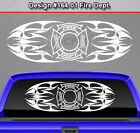 Design #164-01 FIRE DEPT Firefighter Back Window Decal Sticker Graphic Tribal