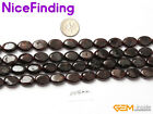 "Natural Stone Garnet Beads Jewelry Making Necklace Bracelet Oval 15""10x14mm"
