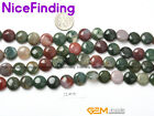 """Indian Agate Natural Stone Beads Jewelry Making Necklace Bracelet Coin Strand15"""""""
