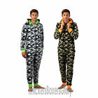 Mens Camouflage Hooded Fleece Onesie All In One Size Small. Medium, Large, XL