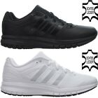 Adidas DURAMO 6 LEATHER men's running shoes trainers white black leather NEW