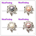 Fashion Jewelry Necklace Pendant Freshwater Pearl Gold Plated Flower Frame