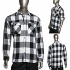 HG Mens Brawny Buffalo Plaid Flannel Shirt Long Sleeve Extra Heavyweight