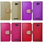 Alcatel One Touch Fierce 2 7040T Shiny Bling Leather Card Holder Cover