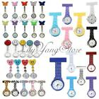 Fashion Nurses Doctors Brooch Clip Tunic Medical Analog Quartz Fob Pocket Watch