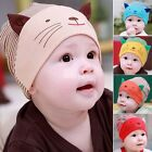 Baby Boy Boys Toodler Infant Striped Stripe Cotton Cap Cat Beanie Hat