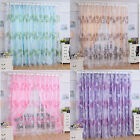 Nest Floral Voile Door Curtain Window Room Curtain Divider Scarf GFY