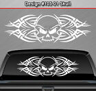 Design #105-01 SKULL Back Window Decal Sticker Vinyl Graphic Tribal Spikes Rear