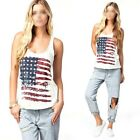 Sexy Womens Girl's National Flag Vest Tank Tops Sleeveless Shirt Blouse Camisole