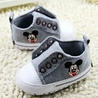 Infant baby boy gray crib shoes casual shoes size 0-6 6-9 9-12 months