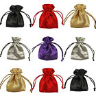 SATIN Jewellery Drawstring Gift Bag Favour Xmas POUCHES - 5 COLOURS, 4 SIZES