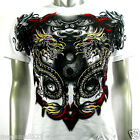 Artful Couture T-Shirt Devil Punk Tattoo AW70 Sz M L XL XXL Indie Biker Graffiti