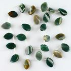 K61299 16x10mm Gemstone indian agate double point loose beads 25pcs