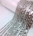 Beveled Figaro Stainless Steel Chain From 0.8mm To 3.0mm You Pick
