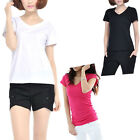 Fashion Women Slim Fit Cotton V-Neck Short Sleeve Casual T-Shirt Tops Nice